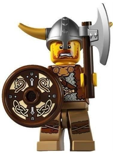 Lego Lego Minifigür - Seri 4 - 8804 - Viking Renkli